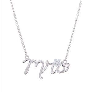 Betsey Johnson Blue Mrs Bride Necklace